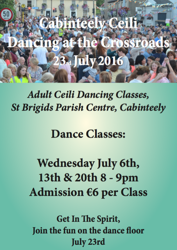 Ceili dance classes poster